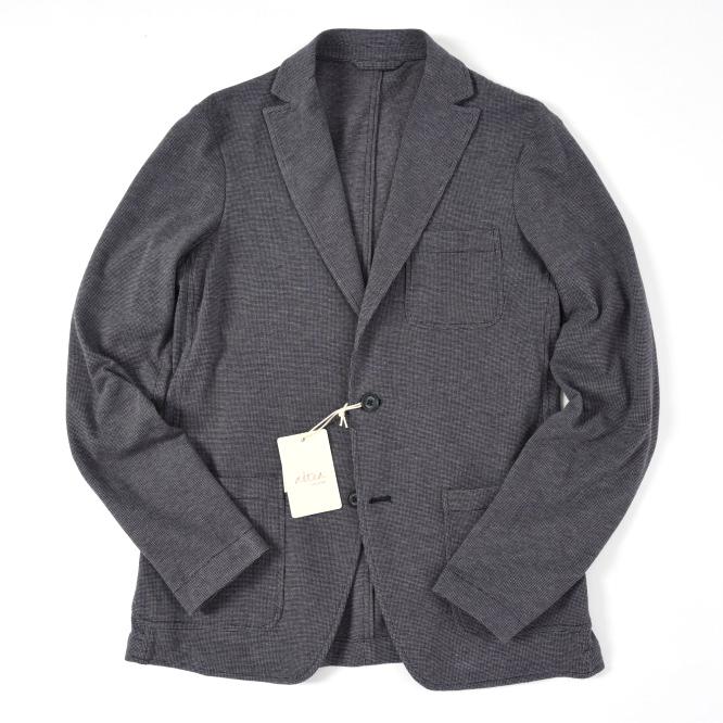 altea アルテア 【送料無料】ジャケット シングル 2つボタン ヴァージンウール100% メンズ パープル グレー L/イタリア ブランド カジュアル ニットジャケット