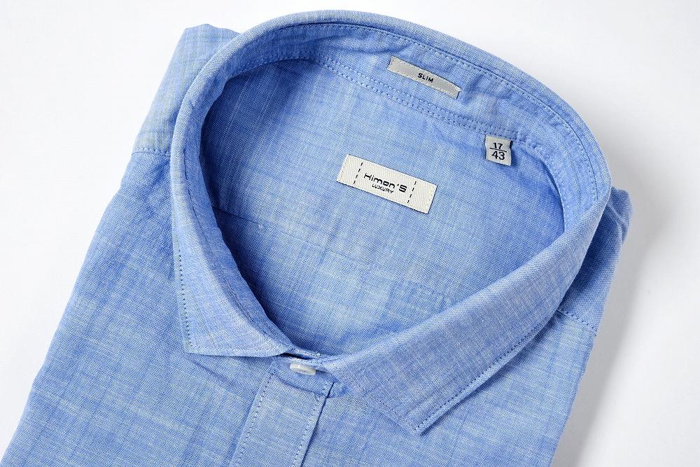 ヒモンズ Himon's 【送料無料】カジュアルシャツ ショートポイントカラー SLIM 長袖 コットン100% メンズ ブランド【あす楽対応_関東】