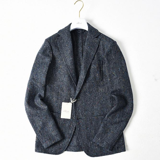 altea アルテア 【送料無料】ジャケット シングル 2つボタン メンズ 秋冬 ツイード 織柄 ウール 100% ネイビー XS S M L XL XXL/イタリア ブランド カジュアル ジャケパン