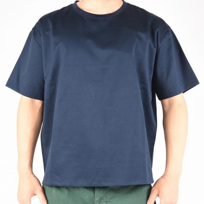 VALENTINO ヴァレンティノ 【送料無料】半袖 ボックス Tシャツ メンズ 春夏 スタッズ コットン 綿100% ネイビー S M/オーバーサイズデザイン【あす楽対応_関東】