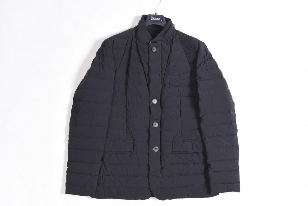 ヘルノ HERNO 【送料無料】ダウン ブルゾン コート メンズ フラップポケット 秋冬 ブラック L/イタリア ブランド アウター