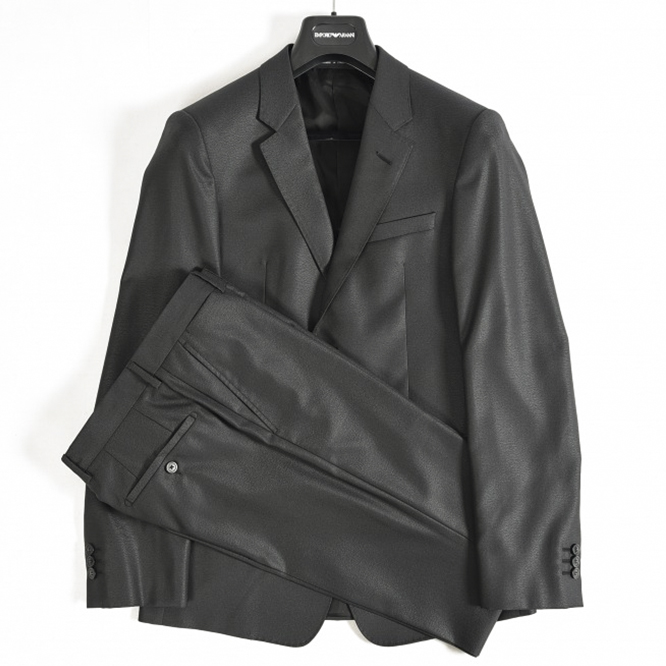 4d0dbd49f0046 The Emporio Armani EMPORIO ARMANI suit two button single JOSH LINE men  woolen silk plain fabric
