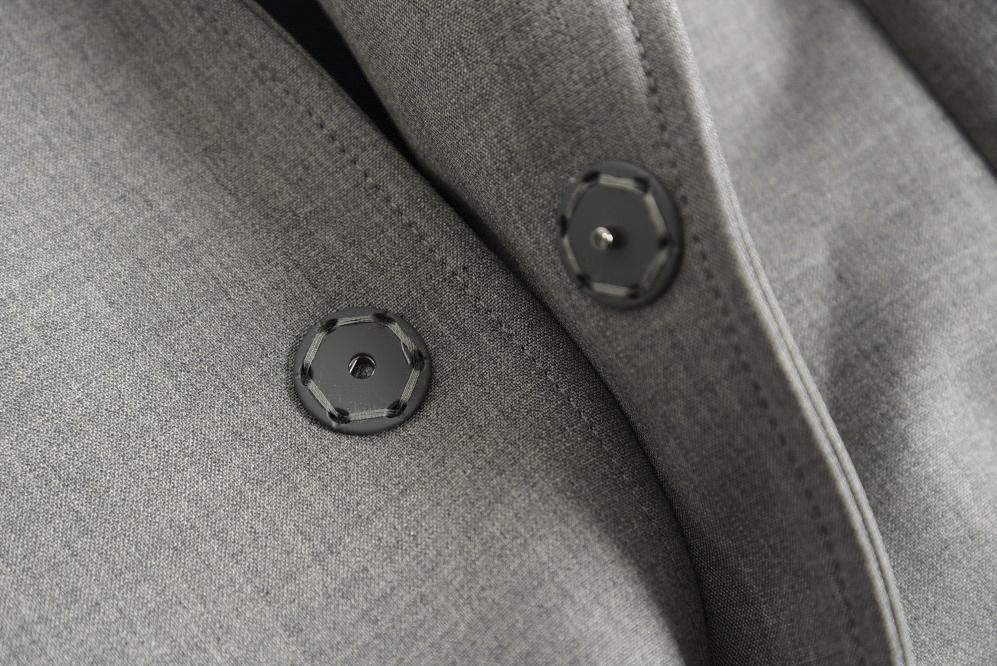 エンポリオアルマーニ EMPORIO ARMANI チェスターコート シングルフロント ストレッチ スナップボタン メンズ 春夏 ウール 無地 グレー/L/イタリア ブランド