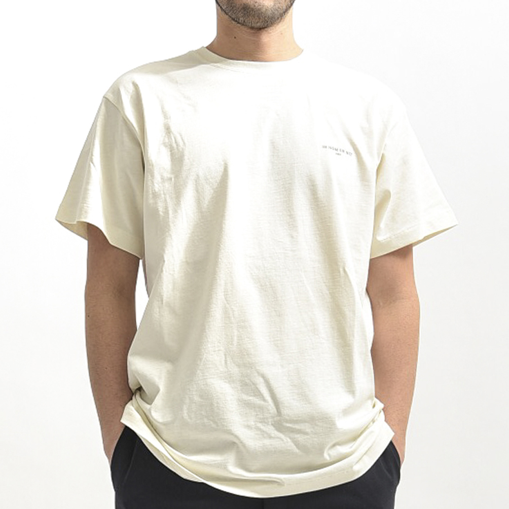 イン ノミネイト ih nom uh nit 【送料無料】Tシャツ 半袖 ワンポイント ロゴ メンズ コットン 綿 100% オフ ホワイト 白/S M L XL/パリ ブランド ストリート カジュアル【あす楽対応_関東】