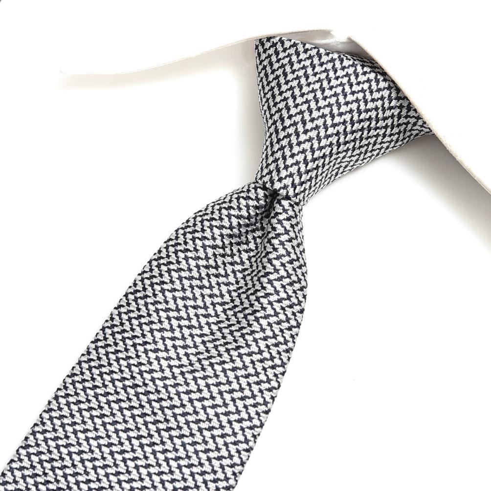 エトロ ETRO ネクタイ メンズ シルク 100% 幾何柄 シルバー ブラック イタリア ブランド イタリア製 MADE IN ITALY ビジネス ギフト 結婚式 【送料無料】