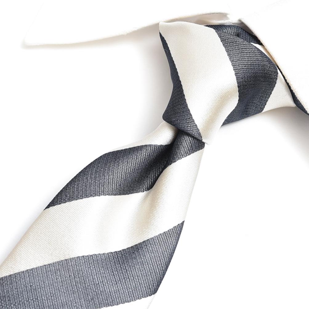 エルメネジルドゼニア Ermenegildo Zegna ネクタイ メンズ シルク 100% レジメンタル ゴールド 金 ブラック 黒 イタリア ブランド イタリア製 MADE IN ITALY ビジネス ギフト 結婚式