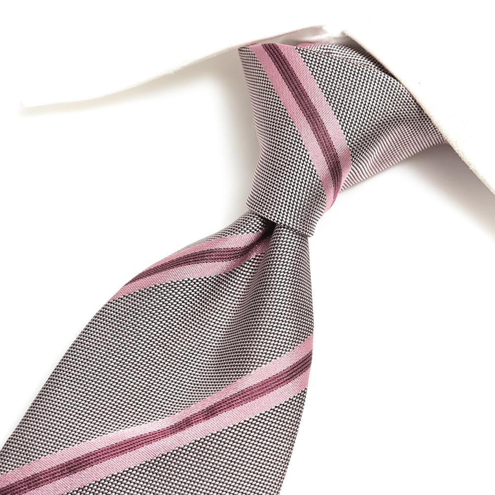 トムフォード TOM FORD ネクタイ メンズ シルク 100% ストライプ ピンク イタリア ブランド MADE IN ITALY ビジネス ギフト 結婚式 【送料無料】