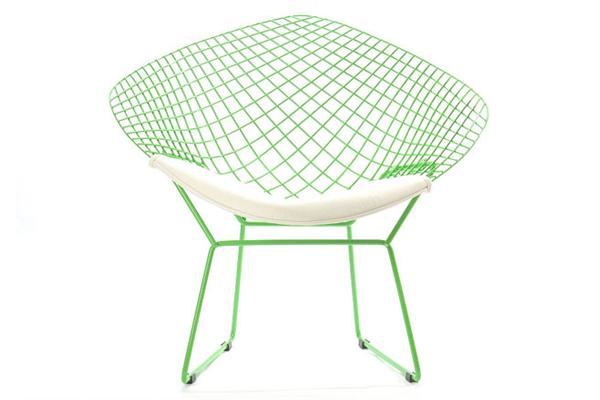 Diamond Chair ダイアモンドチェアイス 椅子 デザイナーズ家具 Harry Bertoia ハリー・ベルトイア ミッドセンチュリー TOP GRAIN Leather イタリア製 本革【送料無料】【即納可】