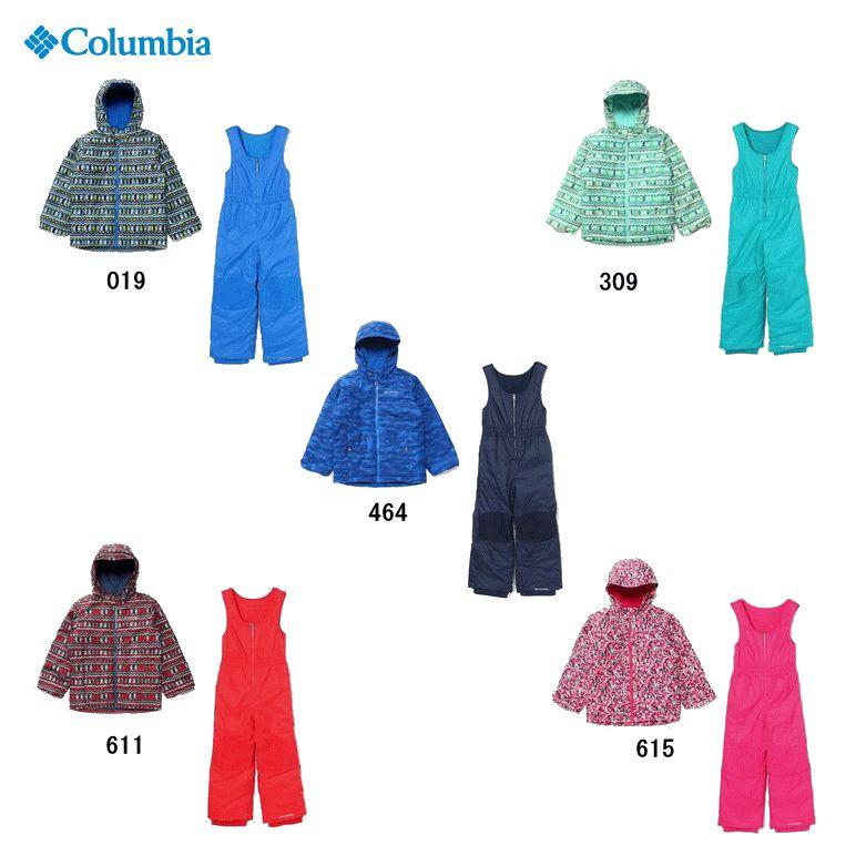 【2018-19 Fall&Winter】Columbia/コロンビア Frosty Slope Set(フロスティスロープセット)/SY1092【スノースーツ】【上下セット】【スキー】【スノーボード】【雪遊び】【110cm・120cm】