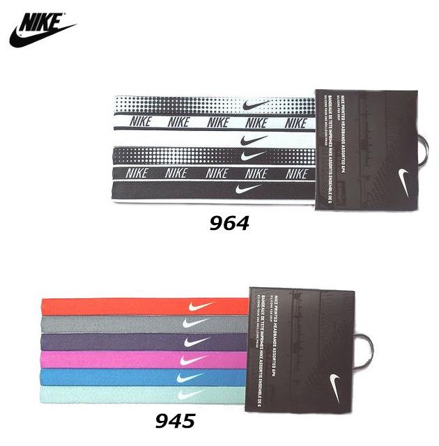 [Nike] 【3セットまでメール便OK!】 ヘアバンド プリントヘッドバンド6本パック トレンドジャパン スウッシュ ナイキ BN2017 945 964 スポーツ メンズ・レディース兼用 6本セット 18SP