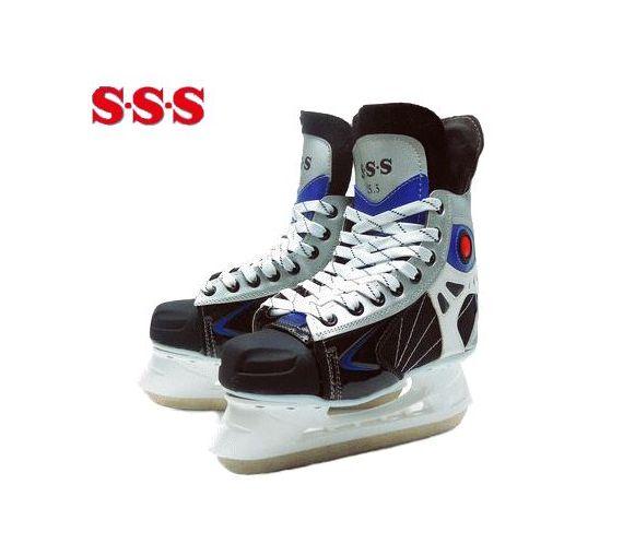 S・S・S/サンエス アイスホッケースケート/SET-60【ブレードガード付】【23.0cm-29.0cm】【初心者-中級者】【ブラック】