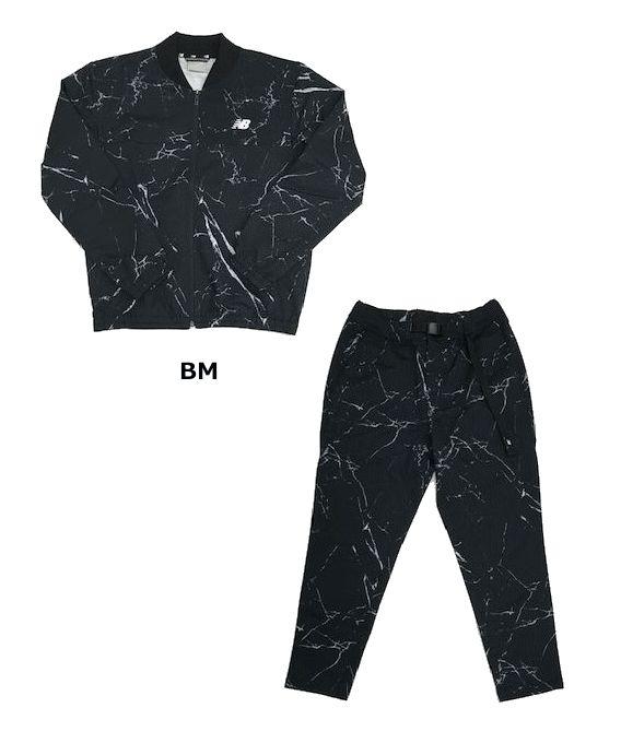 BM(ブラックマルチ) JMJP9278/JMPP9266 メンズ ニューバランス NBT.C.ストレッチウーブンボンバージャケット/テーパードパンツセット