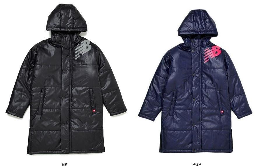 ニューバランス JJJP9364 パデッドロングコート キッズ 子供用中綿ロングコート