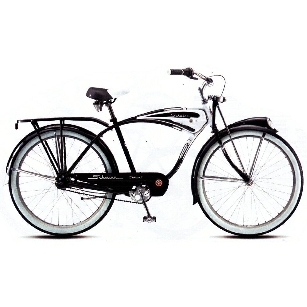 シュウィン(SCHWINN) クラシックデラックス7(CLASSIC DELUXE7) ホワイト/ブラック 2019年モデル クルーザーバイク