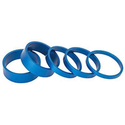 アデプト スムーススペーサーセット 【ブルー】ADEPT 自転車 ヘッドパーツ スペーサー