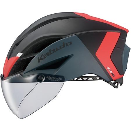 OGKカブトエアロR1-TR(AERO-R1 TR) G-2マットブラックレッド 自転車用ヘルメット[S-STAGE]
