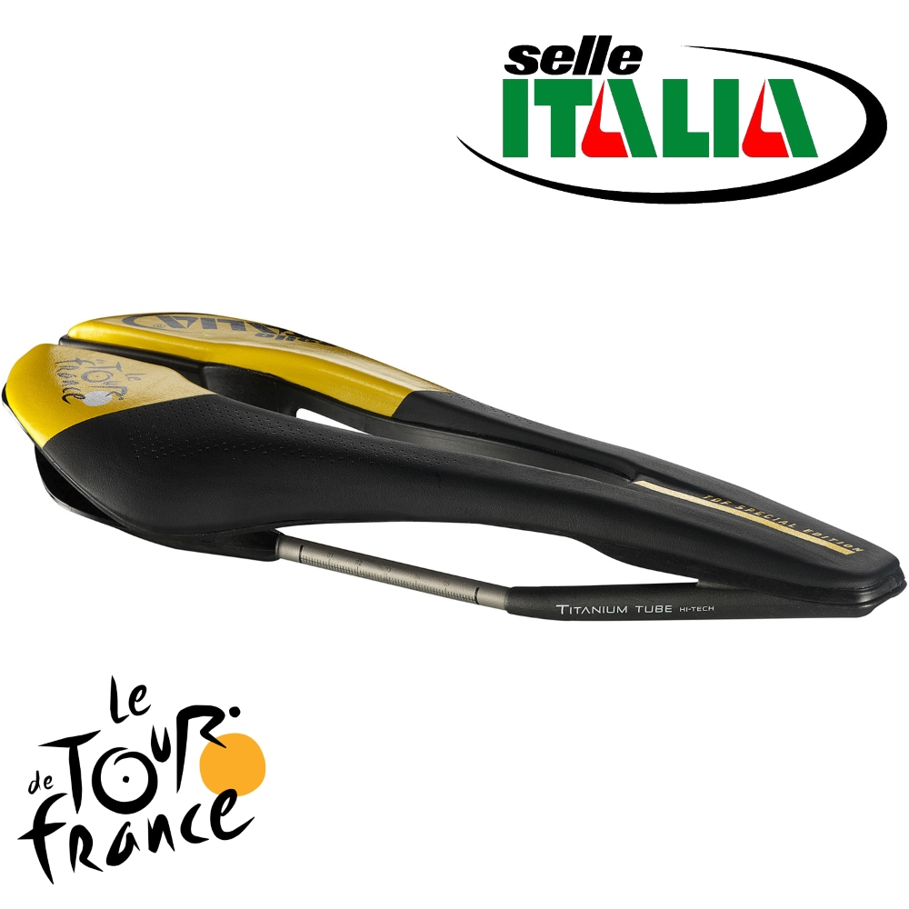 Selle ITALIA(セライタリア) 2018年ツール・ド・フランスモデル SP-01 Titanium SuperFlow(SP01 チタニウム スーパーフロー) 限定モデル
