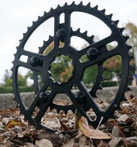 【エントリーでP10倍★10/28(日)10時~】WHITE INDUSTRIES(ホワイトインダストリーズ) VBC チェーンリング アウター 46-52T(17-) ブラック 自転車