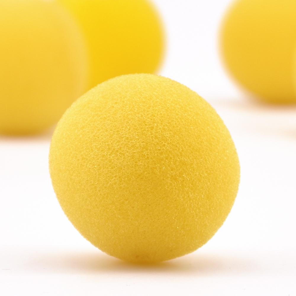 送料無料 高品質 舞台マジック 柔らかく黄色スポンジボール メーカー直売 3.5cm 手品用品 マジック道具 特価 手品用おもちゃ グッズ 手品 マジック