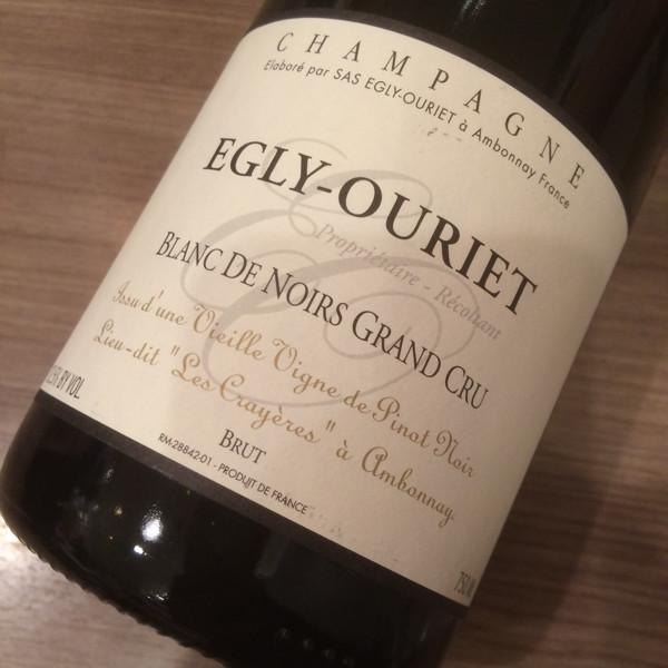 エグリ・ウーリエ ブラン・ド・ノワール グラン・クリュ ヴィエイユ・ヴィーニュ 750ml【送料無料/クール料金込】【フランス/シャンパーニュ地方】【シャンパン/スパークリングワイン/辛口/ピノ・ノワール】EGLY-OURIET Blanc DE Noirs GRAND CRU VV【MA】