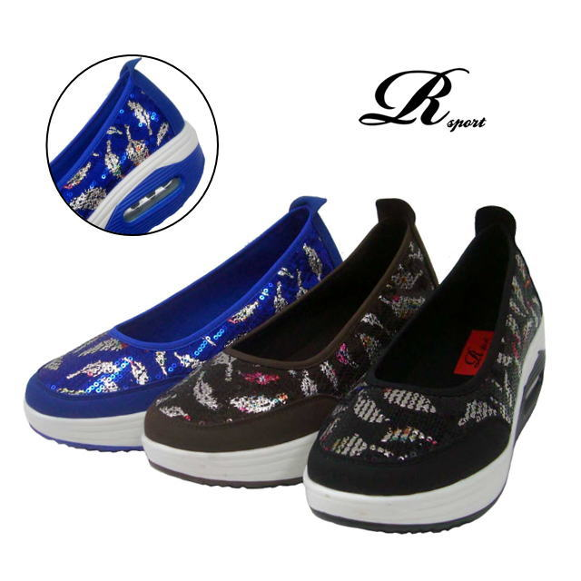 900 R Sport Easy Thick Soled Air Cushion Sole Spangles Casual Pumps