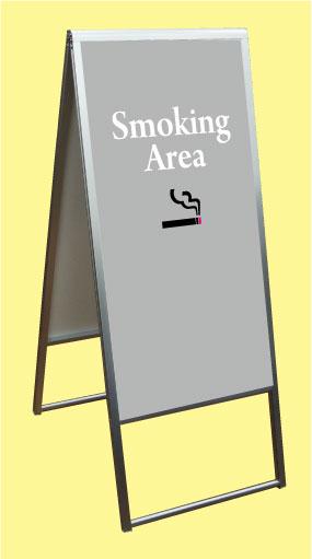 送料無料!スタンド看板 【Smoking Area 1】両面