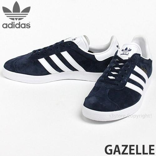 \ Rakuten supermarket SALE Adidas originals gut race knee car shoes men reproduction gazelle SNEAKER SHOES MENS color: College navy white goal