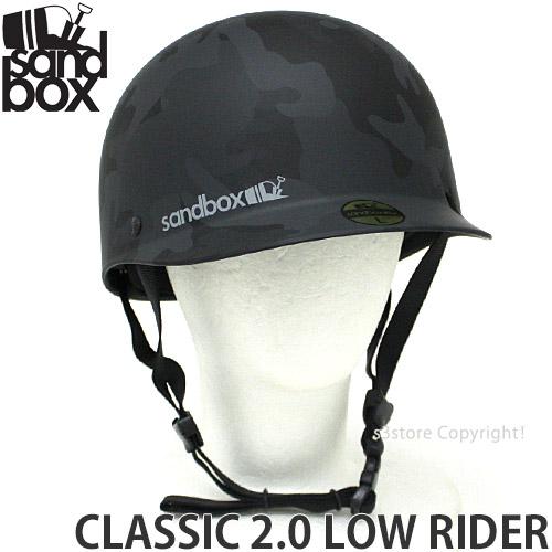 【送料無料】 18model サンドボックス クラシック 2.0 ロウ ライダー 【SANDBOX CLASSIC 2.0 LOW RIDER】 スノーボード ヘルメット ヘッドギア オールシーズン プロテクター サマーゲレンデ 耐水性 速乾性 カラー:BLACK CAMO (MATTE)