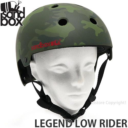 【送料無料】 サンドボックス レジェンド ロウ ライダー 【SANDBOX LEGEND LOW RIDER】 スケートボード スノーボード ヘルメット プロテクター セーフティー 安全 保護 SKATE SK8 カラー:CAMO (MATTE)