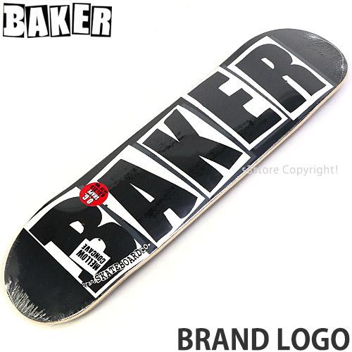 \スーパーSALE/ベイカー ブランド ロゴ 【BAKER BRAND LOGO】 スケートボード スケボー デッキ 板 チーム ストリート パーク 初心者 プロ SKATEBOARD カラー:Black/White サイズ:8.0×31.5