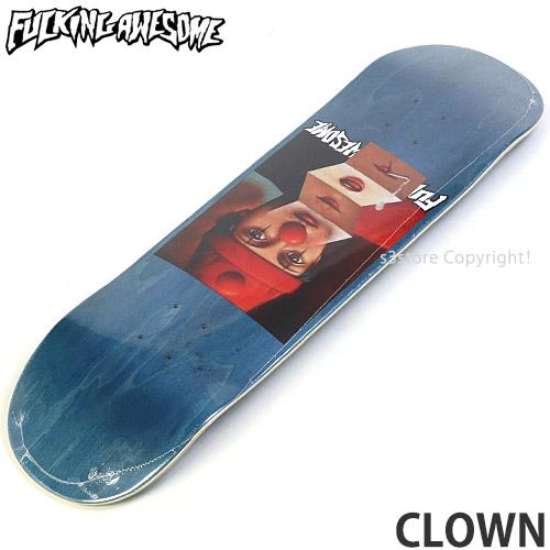 【送料無料】 ファッキン オーサム クラウン 【FUCKING AWESOME CLOWN】 スケートボード スケボー デッキ 板 ストリート SKATEBOARD DECK カラー:Blue サイズ:8.25