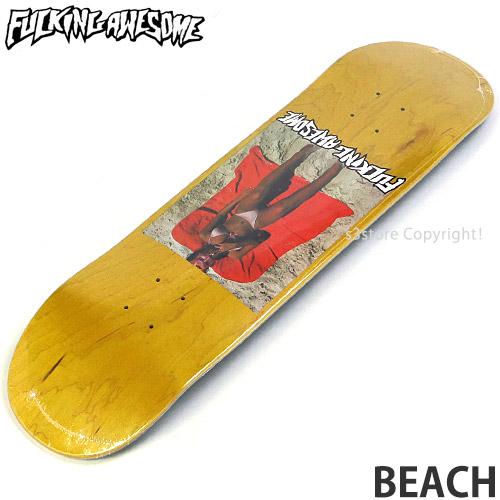 【送料無料】 ファッキン オーサム ビーチ 【FUCKING AWESOME BEACH】 スケートボード スケボー デッキ 板 ストリート SKATEBOARD DECK カラー:Yellow サイズ:8.38