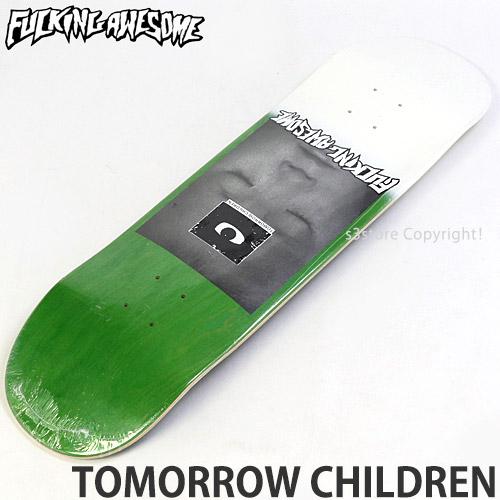 【送料無料】 ファッキン オーサム トゥモロー チルドレン 【FUCKING AWESOME TOMORROW CHILDREN】 スケートボード スケボー デッキ 板 ストリート SKATEBOARD DECK カラー:Lime サイズ:8.5