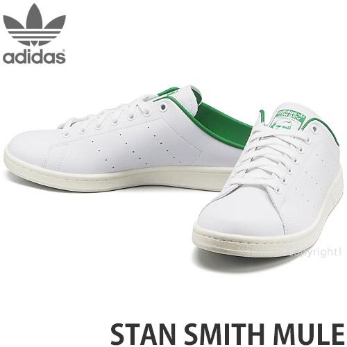 流行 S3STORE エススリーストア アディダス オリジナルス スタンスミス ミュール adidas Originals STAN SMITH オフホワイト 記念日 スリッポン グリーン カラー:フットウェアホワイト リサイクル メンズ スニーカー シューズ 靴 MULE