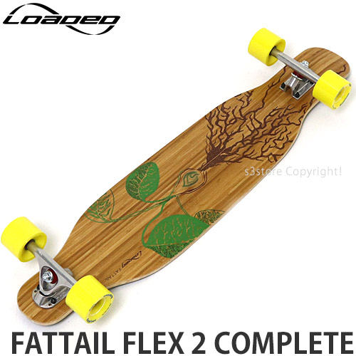 ローデッド ファットテール フレックス 2 コンプリート 【LOADED FATTAIL FLEX 2 COMPLETE】 スケートボード スケボー ロンスケ ロングボード T:ParisV3 W:4President 70mm/86a サイズ:8.63 x 38