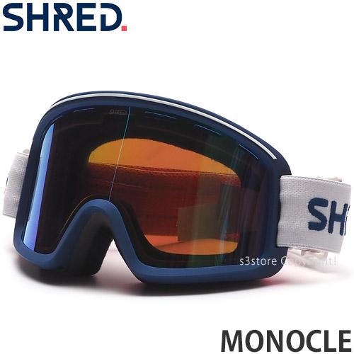 S3STORE エススリーストア 21model シュレッド 人気海外一番 モノクル SHRED MONOCLE スノーボード スノボー スキー GOGGLE コントラスト PLASMA BREAK SNOWBOARD フレームカラー:CLOUD レンズカラー:CBL ゴーグル SKI 本店 MIRROR