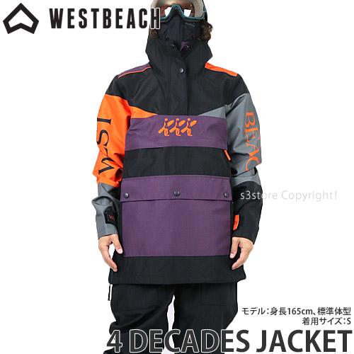 20model ウエストビーチ 4 ディケイド ジャケット 【WESTBEACH 4 DECADES JACKET】 国内正規品 スノーボード スノボー ウエア メンズ 男性 SNOWBOARD WEAR MENS カラー:BLACK