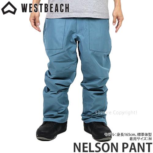 20model ウエストビーチ ネルソン パンツ 【WESTBEACH NELSON PANT】 国内正規品 スノーボード スノボー ウエア ボトムス メンズ 男性 SNOWBOARD WEAR MENS カラー:ENDLESS BLUE