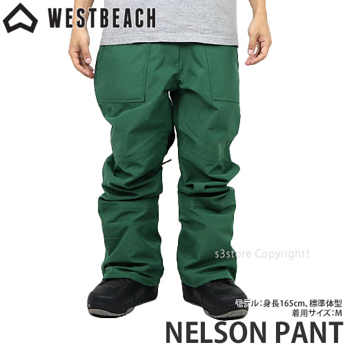 20model ウエストビーチ ネルソン パンツ 【WESTBEACH NELSON PANT】 国内正規品 スノーボード スノボー ウエア ボトムス メンズ 男性 SNOWBOARD WEAR MENS カラー:HUNTER GREEN