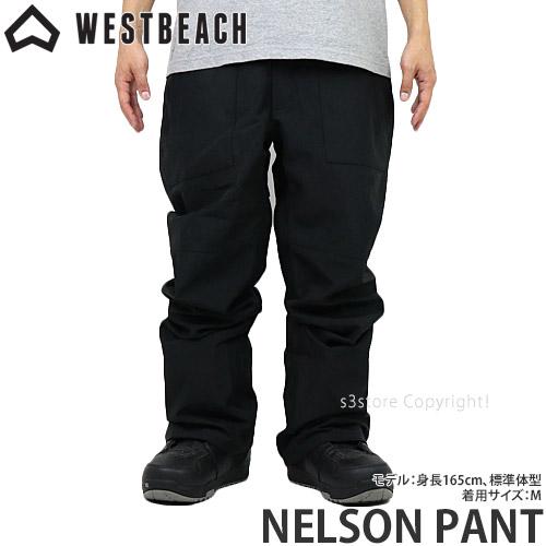 20model ウエストビーチ ネルソン パンツ 【WESTBEACH NELSON PANT】 国内正規品 スノーボード スノボー ウエア ボトムス メンズ 男性 SNOWBOARD WEAR MENS カラー:BLACK