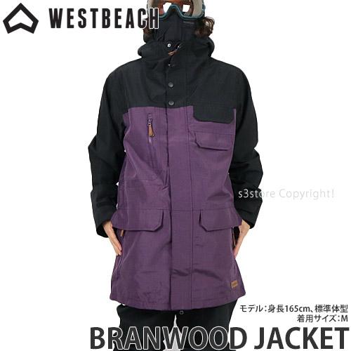20model ウエストビーチ ブランウッド ジャケット 【WESTBEACH BRANWOOD JACKET】 国内正規品 スノーボード スノボー ウエア メンズ 男性 SNOWBOARD WEAR MENS カラー:IMPERIAL PURPLE/BLACK
