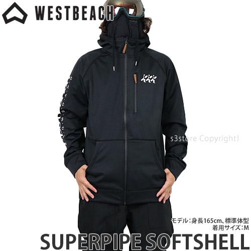 20model ウエストビーチ スーパーパイプ ソフトシェル 【WESTBEACH SUPERPIPE SOFTSHELL】 国内正規品 スノーボード スノボー ウエア メンズ 男性 SNOWBOARD WEAR MENS カラー:BLACK