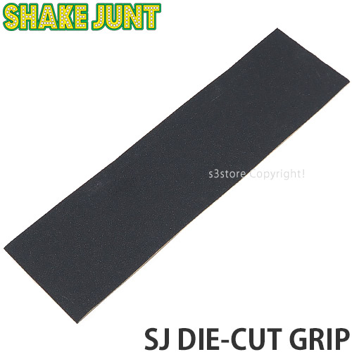 S3STORE エススリーストア シェイクジャント ダイカット 即日出荷 グリップテープ ギフト SHAKE JUNT SJ DIE-CUT スケートボード パーツ カラー:Black GRIP デッキテープ SKATEBOARD サイズ:9