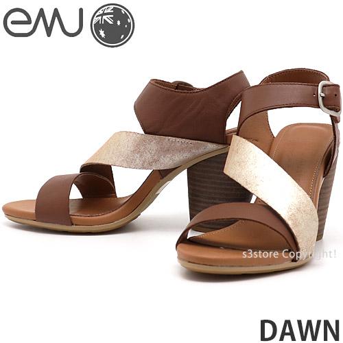 【送料無料】 エミュー ドーン 【emu DAWN】 国内正規品 サンダル 靴 レディース 女性 ヒール EVA ストラップ ファッション コーディネート カラー:BROWN