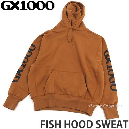 ジーエックスセン フィッシュ フード スウェット 【GX1000 FISH HOOD SWEAT】 パーカー プルオーバー フーディー トップス ストリート スケボー スケートボード SKATEBOARD カラー:Copper