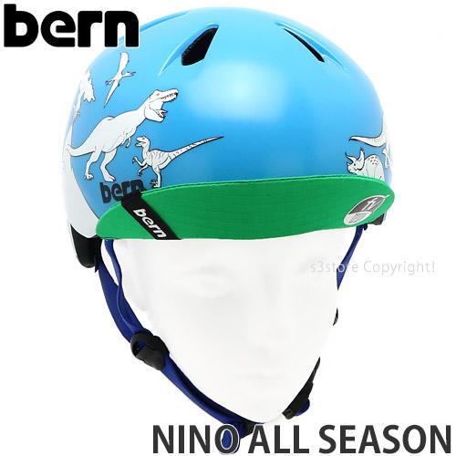 21model バーン ニーノ ペイント オール シーズン 【BERN NINO PAINT ALL SEASON】 国内正規品 ヘルメット ジュニア 自転車 BMX スケートボード スノーボード 子ども カラー:BLUE DINOSAUR W/MARKERS