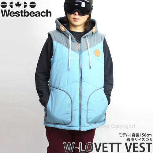 【送料無料】 16model ウエストビーチ ウィメンズ ラベット ベスト 【Westbeach LOVETT VEST】 国内正規品 スノーボード スノボ レディース ウェア ウエア SNOWBOARD WEAR WOMENS ストリート カラー:SEAWEED