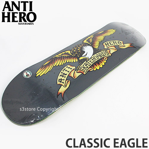 Grey Anti-Hero Classic Eagle Skateboard Deck 8.25