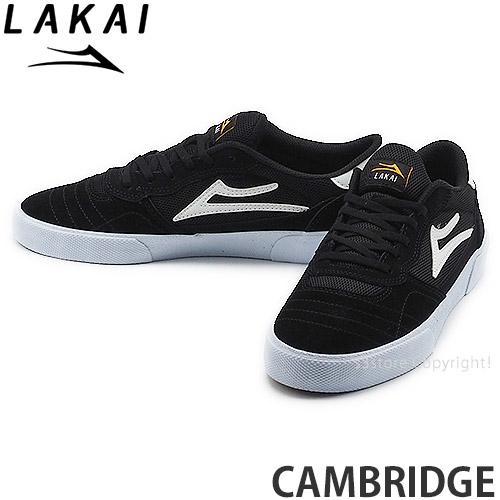 ラカイ LAKAI ケンブリッジ CAMBRIDGE スニーカー シューズ 靴 スケートボード スケボー カラー:BLACK WHITE MENS メンズ SKATEBOARD スケシュー 永遠の定番モデル 通常便なら送料無料 SUEDE