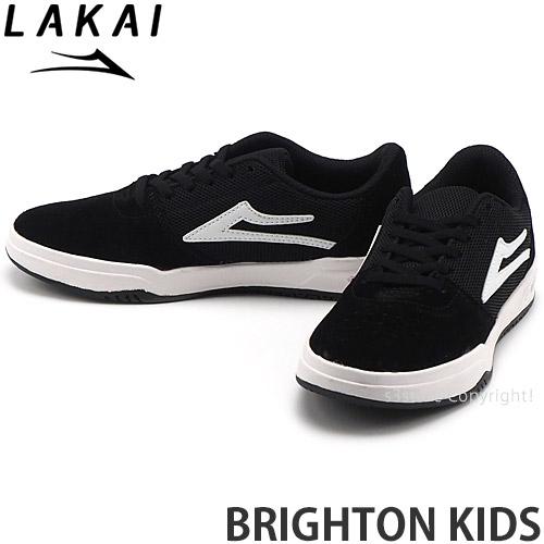 ラカイ LAKAI ブライトン キッズ BRIGHTON 正規品スーパーSALE×店内全品キャンペーン KIDS スケートボード スケボー スケシュー WHITE 期間限定で特別価格 シューズ スニーカー 靴 カラー:BLACK SUEDE 子ども ジュニア